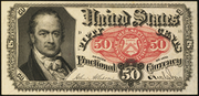 1875 5th Issue 50 Cent Note Red Seal