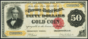 1882 $50 Gold Certificate Red Seal