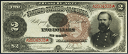 1890 $2 Treasury Note Brown Seal