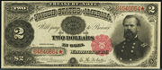 1891 $2 Treasury Note Red Seal