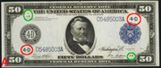 1914 $50 Federal Reserve Note Blue Seal