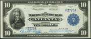 1915 $10 Federal Reserve Bank Note Blue Seal