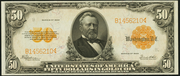 1922 $50 Gold Certificate Gold Seal