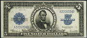 1923 $5 Silver Certificates Blue Seal