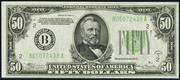 1934A $50 Federal Reserve Note Green Seal