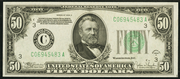 1934C $50 Federal Reserve Note Green Seal