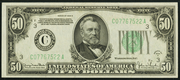 1934D $50 Federal Reserve Note Green Seal