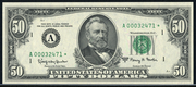 1969 $50 Federal Reserve Note Green Seal