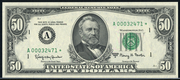 1977 $50 Federal Reserve Note Green Seal
