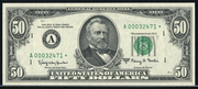 1981 $50 Federal Reserve Note Green Seal