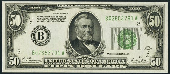 New 10000 Dollar Bill 1928A $50 Federal Rese...