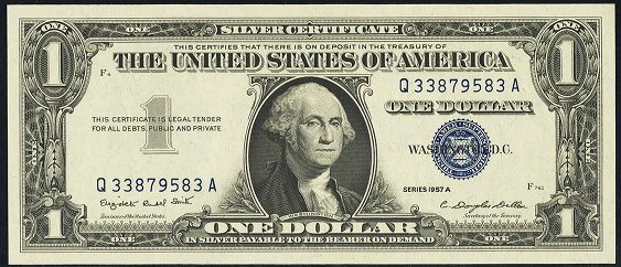 1957a silver dollar certificate value bill certificates worth much seal notes papermoneywanted