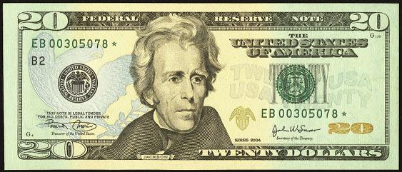 New 10000 Dollar Bill 2009 $20 Federal Reser...