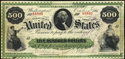 1861 $500 Interest Bearing Note None Seal