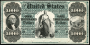 1861 $1000 Interest Bearing Note None Seal