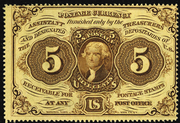 1862 1st Issue 5 Cent Note