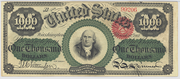 1862 $1000 Legal Tender Red Seal