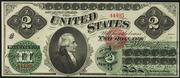 1862 $2 Legal Tender Red Seal