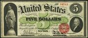 1863 $5 Legal Tender Red Seal