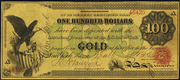 1863 $100 Gold Certificate Red Seal