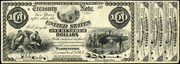 1863 $100 Interest Bearing Note Red Seal with spikes