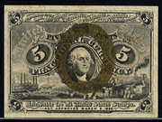 1863 2nd Issue 5 Cent Note