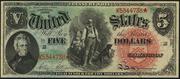 1869 $5 Legal Tender Red Seal