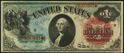 1869 $1 Legal Tender Red Seal