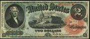 1869 $2 Legal Tender Red Seal