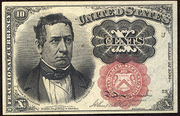 1874 5th Issue 10 Cent Note Green Seal