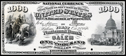 1875 $1000 National Bank Notes Red Seal