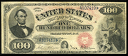 1878 $100 Legal Tender Red Seal with rays