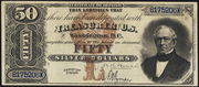 1880 $50 Silver Certificates Brown Seal with Rays