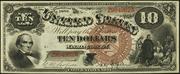 1880 $10 Legal Tender Brown Seal