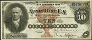1880 $10 Silver Certificates Brown Seal