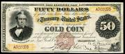 1882 $50 Gold Certificate Brown Seal