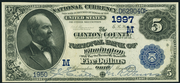 1882 $5 National Bank Notes Blue Seal