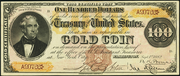 1882 $100 Gold Certificate Brown Seal