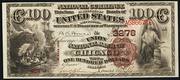 1882 $100 National Bank Notes Brown Seal