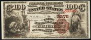 1882 $100 National Bank Notes Brown Seal