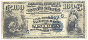 1882 $100 National Bank Notes Blue Seal