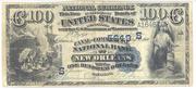 1882 $100 National Bank Notes Blue Seal