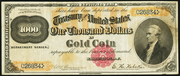 1882 $1000 Gold Certificate Brown Seal