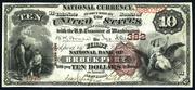 1882 $10 National Bank Notes Brown Seal