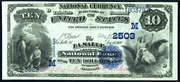 1882 $10 National Bank Notes Blue Seal