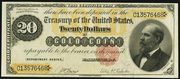 1882 $20 Gold Certificate Red Seal