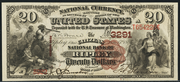 1882 $20 National Bank Notes Brown Seal