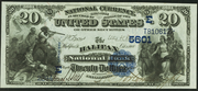 1882 $20 National Bank Notes Blue Seal
