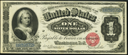 1886 $1 Silver Certificates Red Seal