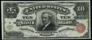 1886 $10 Silver Certificates Red Seal